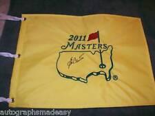 BEN CRENSHAW PGA STAR SIGNED 2011 MASTERS FLAG W/COA