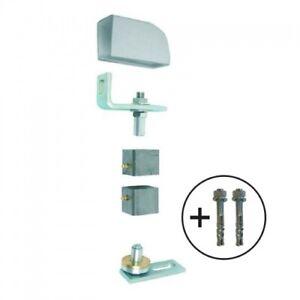 Pivot de portail métallique à visser  - pour tube acier carré