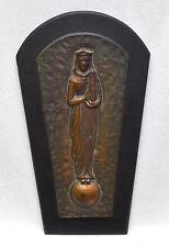 Heilige Barbara - altes Bronzerelief - Schutzpatronin der Bergleute