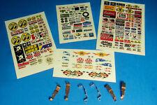HO Slot Car WIDE PAN Tyco 440 440x2 Pickup Shoe Lot, 3 Sets & CLEAR STICKERS