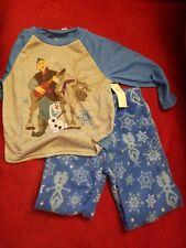 Disney Olaf & Swen Frozen 2 Pajamas 2 Piece Set Boys Size 4T NWT Fleece-Jersey