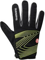 Shimano Unisex Windstopper Thin Cycling Glove Colour: Black/Lime Green Size: Sm