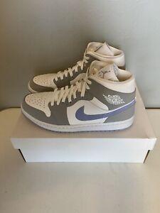 Air Jordan 1 Mid Grey Blue/ Wolf Grey Size 11W/9.5M,BQ6472 105