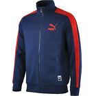 Mens New PUMA Track Jacket Tracksuit Top Coat Sweatshirt  - Navy Blue