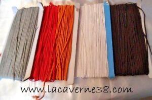 1/3m Galon soutache 3mm divers couleurs passementerie couture mercerie