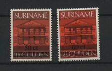 (W0722) BUILDINGS, SURINAM, NVPH 522 + 523, MNH/UM, SEE SCAN