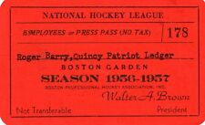 1956-57 Boston Bruins Season Ticket Pass Montreal Maurice Richard/Larry Regan
