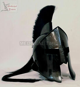 ROMAN 300 SPARTAN BLACK  HELMET KING LEONIDAS MOVIE REPLICA HELMET MEDIEVAL GIFT