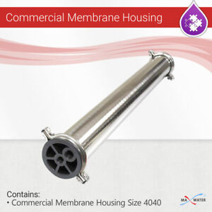 """(1-12 PACK) 4040 Membrane Housing Reverse Osmosis 304 Stainless Steel 4""""x40"""""""