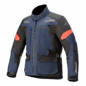 Alpinestars Valparaiso V3 Drystar Dark Blue Black Textile Motorcycle Jacket
