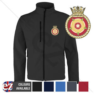 HMS Cumberland - Royal Navy - Softshell Jacket - Personalised text available