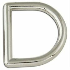 """Tandy Leather Decorative Solid D-Rings 1"""" (25mm) Nickel Free Plate 2/pk 1167-05"""