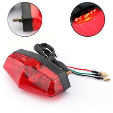 LED ABS Red Brake Stop Running Rear Tail Light Lamp For Universal Motorcycle B3