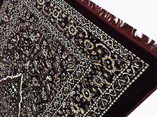 """Om Vintage Indian 100% woolen Maroon Floral Carpet Size-84"""" / 58"""" C14"""