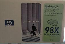 Original HP BLACK printer toner cartridge 92298X 98X 4M5M 5N laserjet series