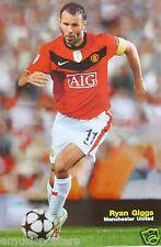 "RYAN GIGGS ""RUNNING BEHIND BALL"" POSTER -Manchester United FC Football / Soccer"