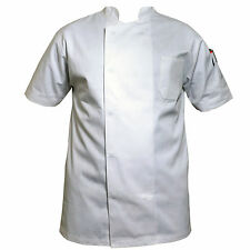 More details for white professional chefs jacket poly cotton excellent quality jacket for unisex