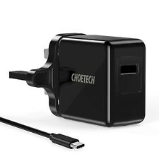 CHOETECH Qc 3.0 Fast Charger Wall 18w With USB C Cable