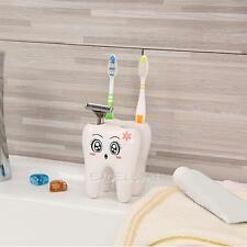 Novelty Bathroom 4Holes Tooth Style Toothbrush Holder Bracket Stand Container