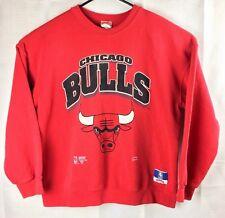 Vintage Chicago Bulls 90's Sweatshirt XL Extra Large Basketball Red Nutmeg USA