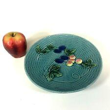 "G S Zell Baden Majolica Plate W/ Fruit & Basket Pattern 9"""