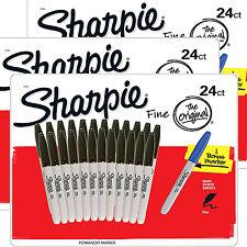 SHARPIE Marcatore Permanente Fine Point Penne Nere Confezione 24 Set di 3