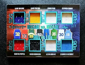 2020 Leaf ITG Stephen Curry Kevin Durant Scottie Pippen Malone 8 Jersey Patch /7