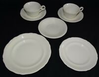 Spode Copeland England Gadroon Salad Plate, Bread Plate 2 Cups & Saucers White
