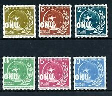 Mexico #813-818 (ME906) Complete Regular Allegory of World Peace, M, LH, FVF