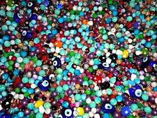 Full Pound 1 Lb. Mixed Glass Beads Jewelry Design Accents Crafting