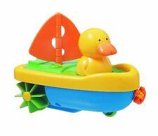 Tigex Badespielzeug Ente in Boot zum Aufziehen Kinder-Spiel Badewanne NEU