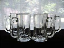 Indiana Glass 4 Clear VINTAGE 12 oz Tankards  Mugs Steins