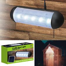 SOLAR POWERED SECURITY SPOTLIGHT GARDEN SHED 5 LED LIGHT GARAGE WALL OUTDOOR