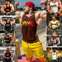Men's Stringer Bodybuilding Fitness Muscle Workout Gym Tank Top Singlet T Shirts