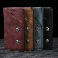 Luxury Retro Flip Book Stand Wallet PU Leather Case Cover For Samsung Galaxy