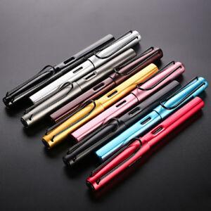 0.38mm NEW Luxury Metal Aluminum Transparent Fountain Pen Extra Fine Nib US HOT