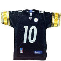 Santonio Holmes Steelers Mens NFL Football Jersey Reebok Black Size Mens S