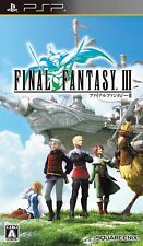 PSP Final Fantasy III FF 3 Japan PlayStation Portable F/S