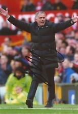 MAN UNITED: JOSE MOURINHO SIGNED 6x4 ACTION PHOTO+COA