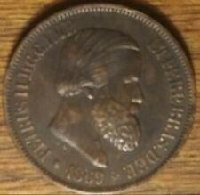 BN KM#474 1869 20 Reis Brazil Bronze