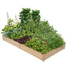 Raised Garden Bed Kit Outdoor Planter Box 8x4ft Wooden for Vegetable/Flower/Herb
