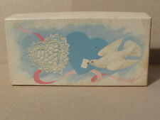 Heart Shaped Scented Soap in Vintage Avon box with dove on cover 1 piece of soap