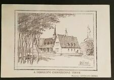 1928 Debrecen to Budapest Hungary Boy Scouts Church Illustrated Postcard Cover
