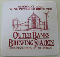 OUTER BANKS BREWING STATION Beer COASTER Mat w/ BREWERY NORTH CAROLINA Wind 2010