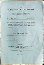 Scientific Proceedings of The Royal Dublin Society Vol. XV, No. 17 January 1917