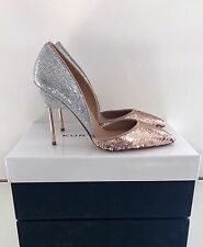 Kurt Geiger London Bond Tg UK 4 37 glitter e paillettes tacchi RRP £ 230 NUOVO CON SCATOLA