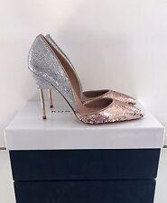 KURT GEIGER LONDON Bond Paillettes et Sequins Cour Chaussures Taille 6 39 RRP £ 230 Entièrement neuf dans sa boîte