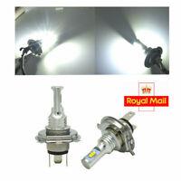 UK ! 2x White LED Headlights Bulbs High&Low Beam H4 9003 HB2 6000K 4000LM