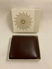 VINTAGE BROWN LEATHER BUXTON KEY-TAINER KEY CHAIN- NEW IN BOX!