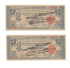Philippines Emergency Guerrilla Currency Negros Sequential - 2 Pesos - # 168049